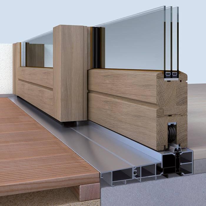 holz schiebetren cool fr mit schlankem profil with holz. Black Bedroom Furniture Sets. Home Design Ideas